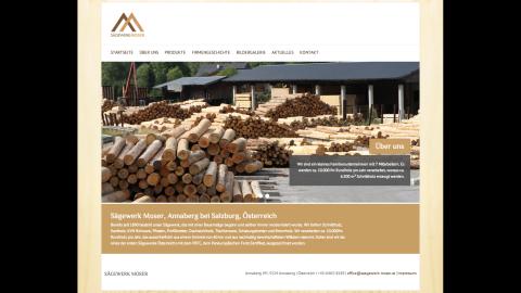 Neu: Website und Logo für Sägewerk Moser